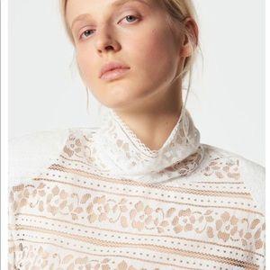 New! Sandro Paris 1 S Hamia blanc blouse blouse